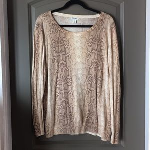 Old Navy snake print sweater